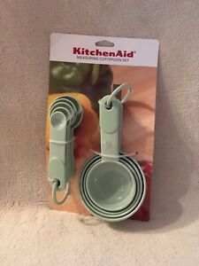 KitchenAid Pistachio Measuring Cup and Spoon Set - 9 Piece - Brand New