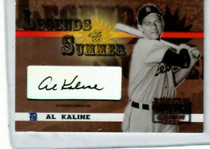 AL KALINE 2003 DONRUSS SIGNATURE SERIES LEGENDS OF THE SUMMER AUTOGRAPH
