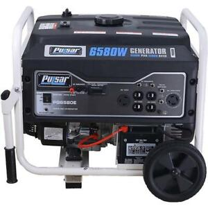 Pulsar 6580 Watts Gas Powered Portable Generator Electric Start PG6580E