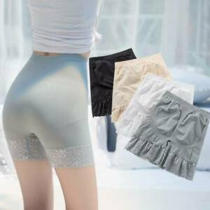 Women Summer Elastic Safety Seamless Lace High Waist Under Shorts Pants Leggings $3.55
