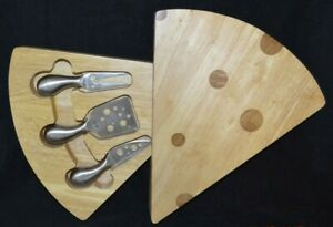The Swiss Cheese Cutting Board Tool Set Stainless Steel Picnic Time Legacy