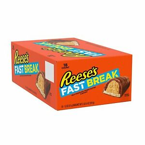 REESE'S Fast Break Chocolate Candy Bar (Pack of 18)