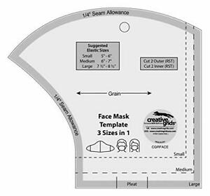 Creative Grids Non Slip Sewing Ruler Template Face Mask cgrFACE $13.99