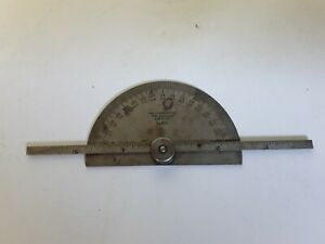 Vintage Starrett Protractor And Depth Gage 493 $24.99