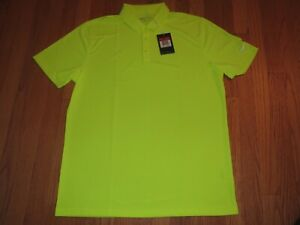 Men's Nike Dri Fit Golf Polo Shirt Chartreuse Neon Size Large MSRP $55 **NEW** $29.95