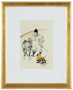 Fine Toulouse Lautrec quot;Circus#x27; Hand Numbered 15 20 Lithograph Unframed COA $374.25