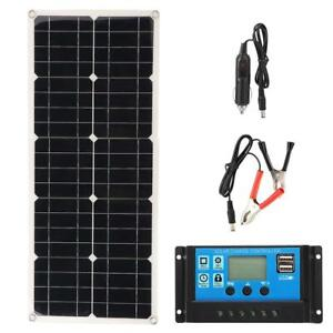 100W Solar Panel Set Foldable Charger Dual USB DC Battery Camping RV Marine