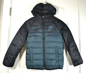NWT BOYS YOUTH UNDER ARMOUR PRONTO PUFFER HOODIE S GRAY JACKET LOOSE SZ S,M,XL $39.60
