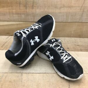 Under Armour Womens Assert Running Shoes Black Gray 1215468 Breathable Lace Up 7 $34.99