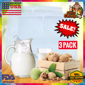 Almond Nut Milk/Cheese Bag - 3 PACK - 12