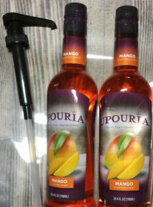 2 Upouria Mango Flavored Syrups 100% Vegan and Gluten Free 750ml bottles Pmp $18.00