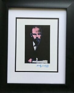 ANDY WARHOL ORIGINAL 1984 SIGNED LENIN PRINT MATTED TO BE FRAMED AT 11 X 14 $119.00