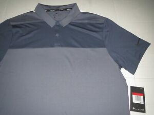Men's Nike Dri Fit Golf Polo Shirt Gray MSRP $65.00 Large **NEW** $32.45