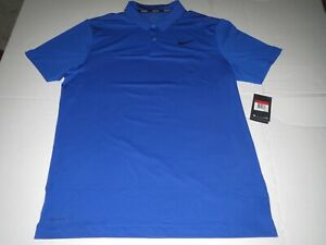 Men's Nike Dri Fit Golf Polo Shirt Blue MSRP $65.00 Large **NEW** $32.45