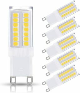 KINDEEP NOT Dimmable G9 LED Bulb 40W Equivalent Ceiling Light, Desk Lamp (5Pack)