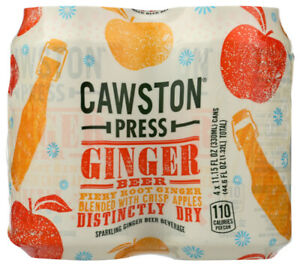 Cawston Press Ginger Beer 4Pk Pack of 6 4 11.15 oz. Cans