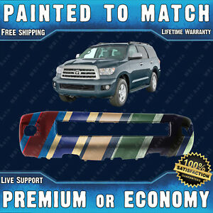 NEW Painted To Match Front Bumper for 2008 2014 Toyota Sequoia w Park Fog $560.99