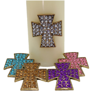 Cross Design Candle Pin Sets- 5 colors