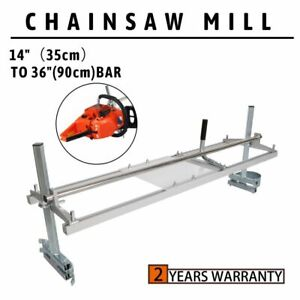 Portable Chainsaw mill 36quot; Inch Planking Milling 14quot; to 36quot; Guide Bar Aluminum $53.95