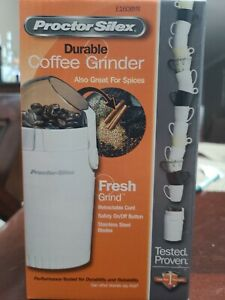 NEW! Proctor Silex Electric Coffee Bean Spice & Grinder Mill