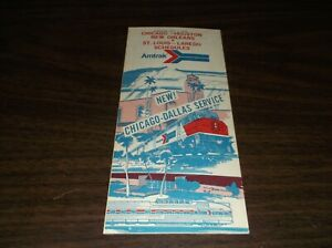 JULY 1975 AMTRAK CHICAGO HOUSTON DALLAS SERVICE PUBLIC TIMETABLE