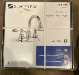 Glacier Bay Mandouri 4 in Centerset Bathroom Faucet Chrome HD67513W-6701