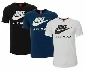 Nike Men's Air Max Graphic T Shirt Dry Fit Swoosh Logo Athletic Active Wear Gym