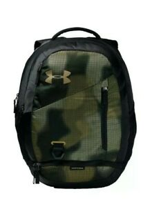 New Under Armour Hustle 4.0 Backpack Khaki Green Camo Bag Laptop School 1342651 $49.97