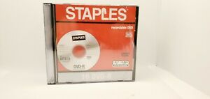 Staples 10 Pack DVD R Recordable DVD 4.7 GB Individual Case