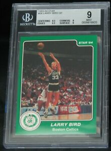 1983 84 Star #26 Larry Bird SP BGS 9