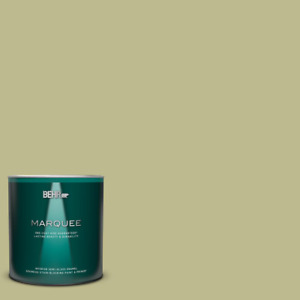 1 qt. #S340-4 Back to Nature One-Coat Hide Semi-Gloss Enamel Interior Paint and