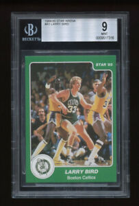 1984 85 Star Set Break # 1 Larry Bird BECKETT 9 MINT