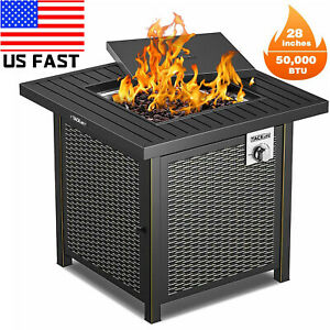 BBQ Grill Propane Gas Fire Pit Table Outdoor Garden Cooking Party Camping Stove