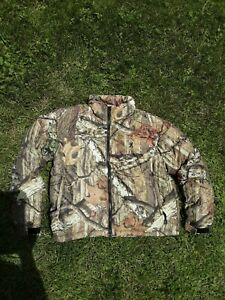 Mens Browning river oak camouflage warm silent hunting jacket sz L
