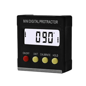 360 Degree Mini Digital Protractor Inclinometer Electronic Angle Level Magnetic $22.14