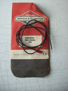 Genuine Briggs & Stratton ~ 298693 Ground Wire 398808 ~ Made in USA