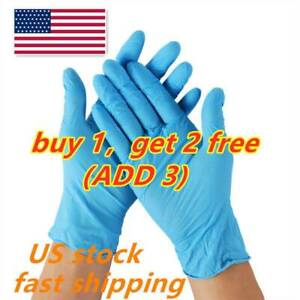 10Pcs Blue Latex Rubber Nitrile Gloves Home Cleaning Food Processing Laboratory