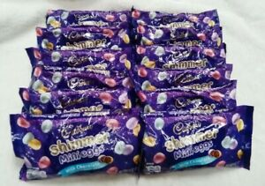 Lot of 12 - 9oz Bags Cadbury Easter Milk Chocolate Shimmer Mini Eggs - FREE SHIP