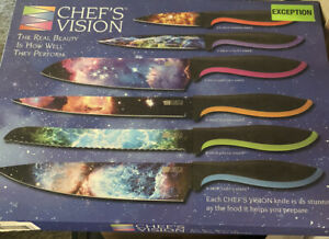 Chefs Vision Knives Stunning Knife Set 6pc Real Beauty  Cosmos Series 2017