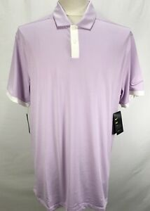 Nike Dri Fit Vapor Lilac White Golf Polo Shirt Men's Size XL BV6850 543 $39.88
