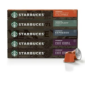 Starbucks by Nespresso, Intense Variety Pack (50-count single serve capsules, 10