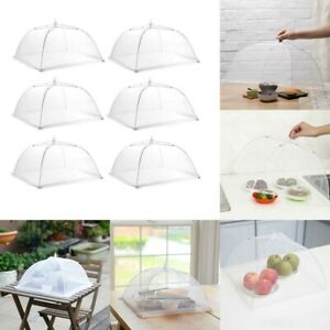 6pcs Food Cover Dome Large Collapsible Mesh Umbrella Fly Net Pop Up Plate USA