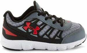 Under Armour Little Boys' UA Spine Shoes, Steel 3 M US Toddler $24.99