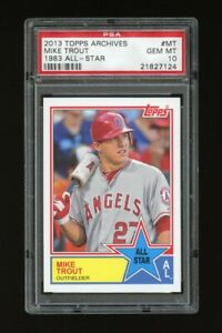 2013 Topps Archives: Mike Trout 1983 All Star PSA 10 GEM MINT