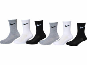 Nike Young Athletes Socks Toddler Little Boy's 6 Pairs Cushioned Crew