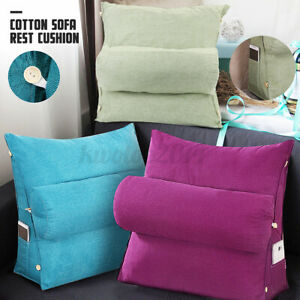Adjustable Back Wedge Cushion Sofa Pillow Bed Office Chair Rest Neck Support
