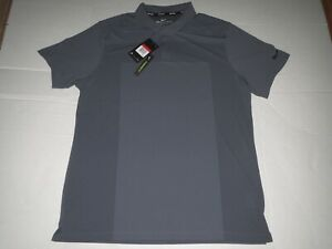 Men's Nike Dri Fit Zonal Cooling Golf Polo Shirt Gray Large MSRP $75.00 **NEW** $39.95