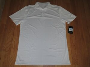 Men's Nike Dri Fit Golf Polo Shirt White Size Medium MSRP $65.00 **NEW** $34.95