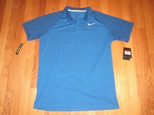 Men's Nike Dri Fit Golf Polo Shirt Blue Size Medium **NEW** $34.95