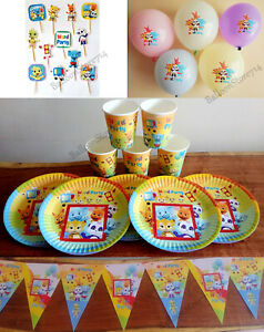 WORD Party Party Sets~ Cups Plates Happy Birthday Banners Gender Reveal Boy Girl
